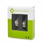 SENCART T10 1.25W 72lm 5-SMD 5050 LED White Light Car Indicator Lamp - White + Yellow (12V / 2 PCS)
