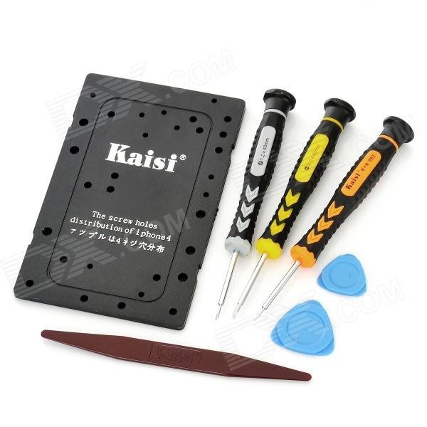 Kaisi 7-in-1 Professional Opening Pry Tools Set for Iphone 4 / 4S - Black