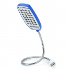 USB Powered Flexible Neck 28-LED White Light Lamp - Blue