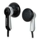 Senmai SM-E2011 Flat In-Ear Earphones - Black + Silver (3.5mm Plug / 116cm)