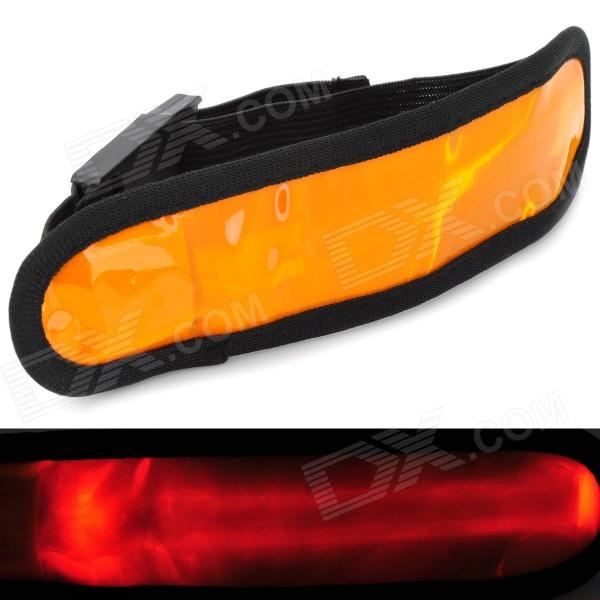 3-Mode LED Orange Light Armband w/ Velcro - Orange + Black (2 x CR2032)