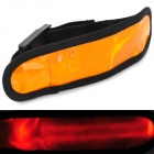 3-Mode-LED Orange Light Armband w / Velcro - Orange + Schwarz (2 x CR2032)