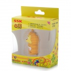 SSK SFD221 Cute Lion Style USB 2.0 Flash Drive - Yellow (8GB)
