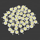 JR-1WLED 1W 12000K 90~100lm LED Bluish White Light Bulbs - Silver (50 PCS)