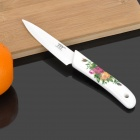 "KTC-A4 Flower Pattern Handle 4"" Ceramic Knife - White"