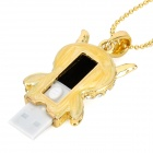 U-5-085 Box Necklace Style USB 2.0 Flash Drive - Golden (4GB)