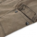 Casual Man's Cotton Multi-Pocket Short Pants Straight Trousers - Brown (Size M)