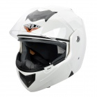 Paulo X3 Flip-Up Motorcycle Outdoor Sports Racing Helmet - White + Black (Size L)