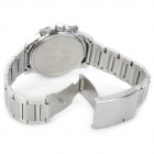 EYKI 8572 Water Resistant Stainless Steel Quartz Movement Wrist Watch w/ Calendar - White (1 x 377)