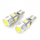 T10 1.6W 200lm 5-LED White Light Car Signal Lamp (12V / 2 PCS)