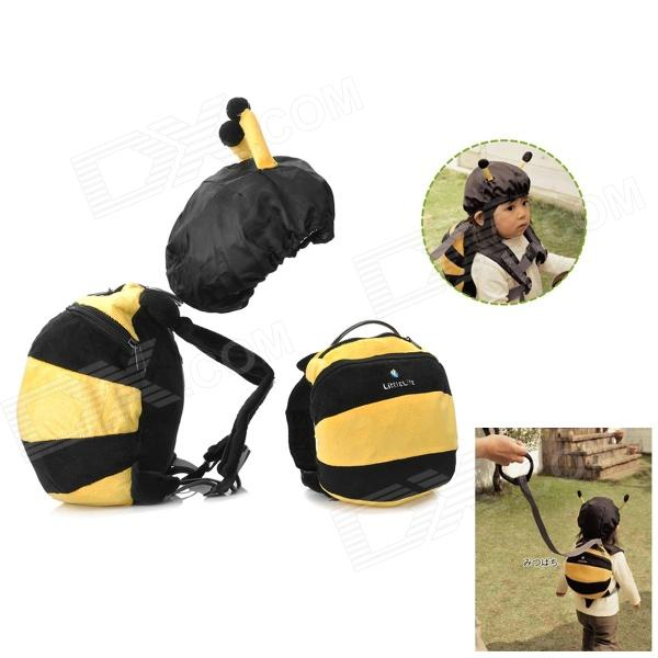 Doomagic Cute Bee Shaped Plush + Canvas Kids Safety Harness - Yellow