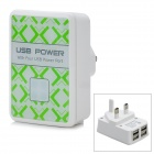 4-USB Ports AC Power Adapter for Iphone / Ipad + More - White (UK Plug / AC 100~240V)