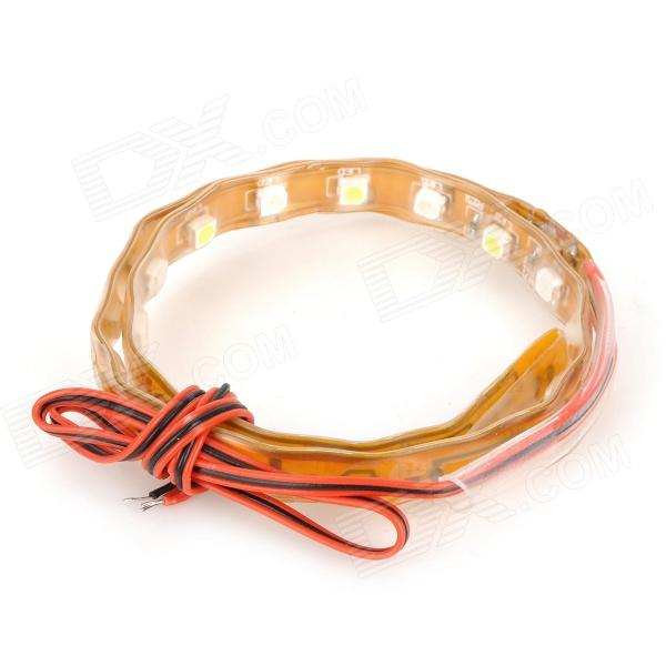 DianZi Waterproof 2W 230lm 30-SMD 3528 LED White & Red Flexible Car Brake Light Strip (12V / 20cm)