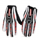 PRO-BIKER CE-01 Full-Fingers Motorcycle Racing Gloves - Red + White + Black (Pair / Size M)
