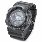 G-SHORS YQ-11 Sport Rubber Band Quartz Analog + Digital Waterproof Wrist Watch - Black (1 x CR2025)