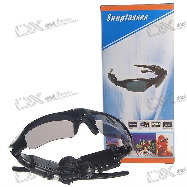 Cool Sunglasses MP3 Player with SDHC TF Card Slot (32GB Max)