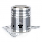 KD-MN08 Portable Multi-Media Speaker w/ TF / USB Flash Drive - Grey + Silver