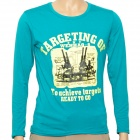 Fashion Man's Cotton Long Sleeve T-shirt - Light Sea Green