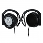 Senmai SM-E9203 Ear Hook Headset w/ Clip - Black + Silver (3.5mm Plug / 120cm)
