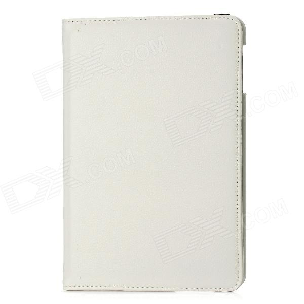 Lychee Pattern 360 Degrees Rotation Protective PU Leather Cover Plastic Case for Ipad MINI - Ivory