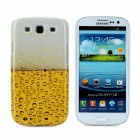 Beer Pattern Protective Plastic Case for Samsung i9300 Galaxy S3 - Yellow + Off-white
