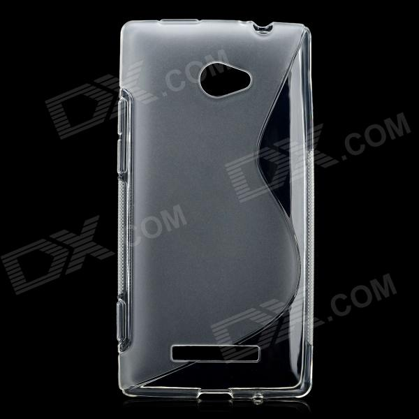 S Pattern Protective TPU Case for HTC 8X / C620E / C620A / Accord - Transparent