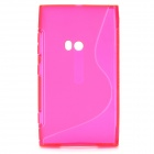 S Pattern Protective TPU Case for Nokia Lumia 920 - Deep Pink