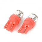 T10 1.5W 115lm 5-SMD 5050 LED Red Light Motorcycle Instrument Lamp - Red + White (12V / 2 PCS)