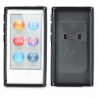 Protective Plastic Back Case w/ Belt Clip for Ipod Nano 7 - Black