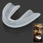 D001 Football Basketball Soccer Boxing Single Layer Rubber Mouth Guard Teeth Protector - Transparent