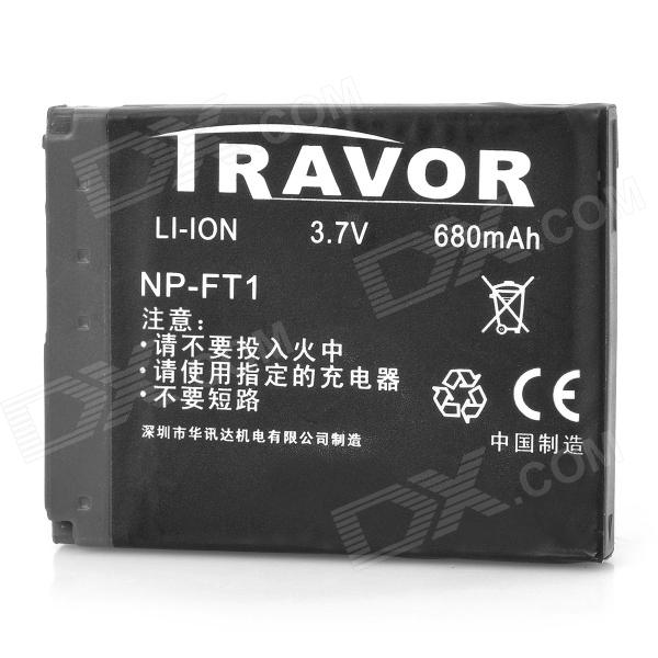 Travor 3.7V 680mAh Battery Pack for Sony NP-FT1 / DSC-L1 / DSC-M1 / DSC-M2 / DSC-T1 - Black