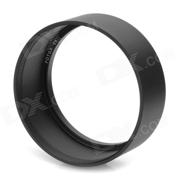 FOTGA 55 55mm Standard Aluminum Alloy Thread Lens Hood for 55mm Lens - Black driven racing standard clip ons 55mm black dclo55bk