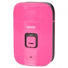 POVOS PW805 USB Powered Dual-Blade Electric Reciprocating Shaver Razor - Deep Pink