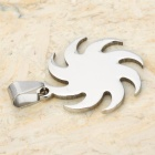 Unique Army Apollo Style 316 Stainless Steel Charm Pendant - Silver