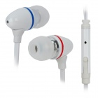 IN18 Flat In-Ear Earphones w/ Microphone for iPad / iPhone / iPod - White (3.5mm Plug / 118cm)