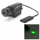50mW Green Laser Rifle Scope with High Light Torch Head - Black
