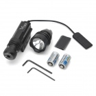 50mW Green Laser Rifle Scope con la cabeza alta Torch Light - Negro