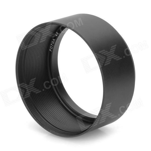 FOTGA 46mm Aluminum Alloy Lens Hood for Camera - Black