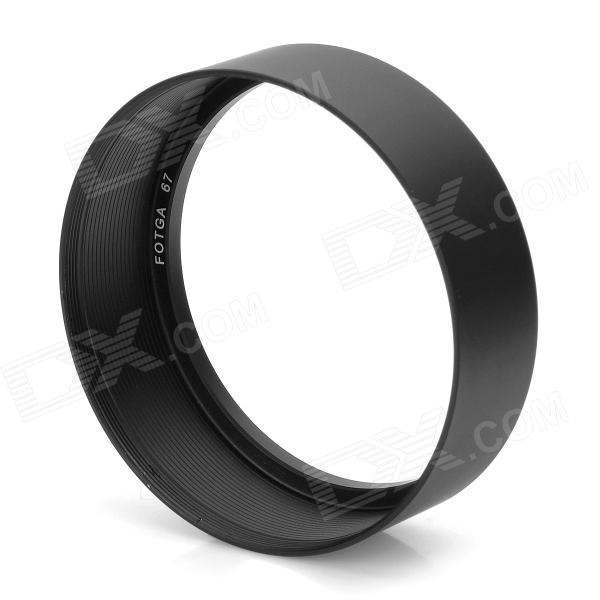 FOTGA 67 67mm Standard Aluminum Alloy Thread Lens Hood for 67mm Lens - Black