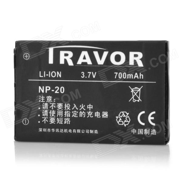 Travor NP-20 3.7V 700mAh Battery Pack for Casio Camera - Black