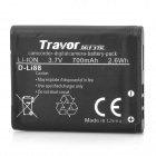 Travor D-Li88 Replacement 3.7V 700mAh Battery for Pentax & Sanyo Camera - Black