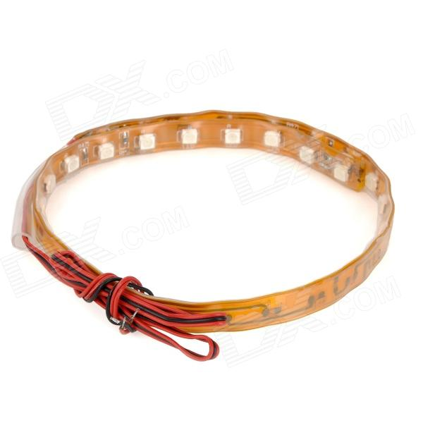 Dianzi Flexible 2W 230lm 30-SMD 3528 LED Red / Green Light Car Decoration Strip (12V / 30cm)