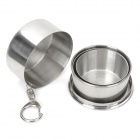 Portable Stainless Steel Folding Cup - Silver (120ml)