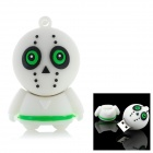 Cartoon Style USB 2.0 Flash Drive - White + Black (4GB)
