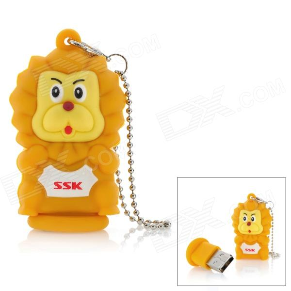 SSK SFD221 Cute Lion Style USB 2.0 Flash Drive - Yellow (16GB)