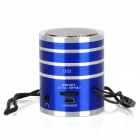 KD-MN08 Mini Portable 2-Channel Media Player Speaker w/ TF / Strap - Blue + Silver