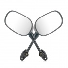 DIY Motorcycle Anti-Glare Back Rearview Mirrors for Honda CBR600-1000 - Black + Silver (Pair)