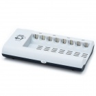 GOOP GD-808A 8-Slot AA / AAA Battery Charger - Grey (2-Flat-Pin Plug / AC 100~240V)