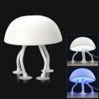 Niedlich weich Jellyfish Style USB Powered 1-LED 2-Mode White / Blue Light Desktop Lampe - White