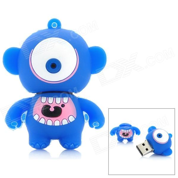 Cartoon Style USB 2.0 Flash Drive - Blue + White (4GB) cartoon koala style usb 2 0 flash drive brown white 4 gb
